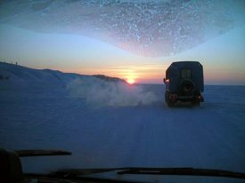The winter road on Yamal earned at full capacity