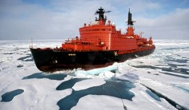 "The crew of the Yamal ice breaker finished a rescue operation of polar station ""North Pole-40"""