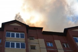 In Salekhard there was a fire in the inhabited nine-storey building