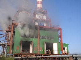 In Labytnangakh at power plant there was a fire