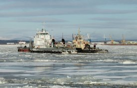 All ferries which have got stuck in ices of Ob, are released