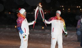 Yamal accepts Olympic flame