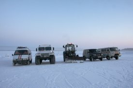 Emercom of Russia controls a condition of ice crossings